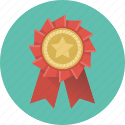 badge, label, medal, prize, rank, star, winner icon