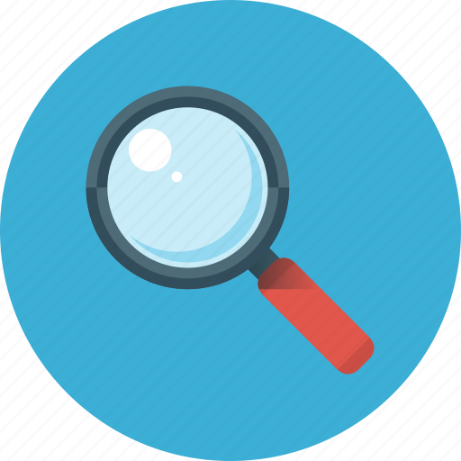 Search, glass, magnifier, magnifying, zoom, explore icon - Download on Iconfinder