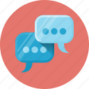 bubble, chat, communication, engagement, message, social, social engagement icon