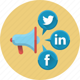 advertising, media, mouthpiece, network, social, social media, social networks icon