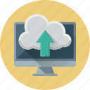 arrow, cloud, data, up, upload icon