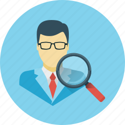 audit, magnifier, search, usability, usability audit icon