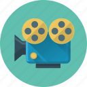 marketing, media, movie, video, video marketing icon