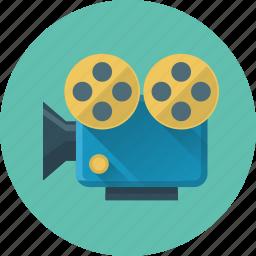 marketing, media, movie, video, video marketing icon