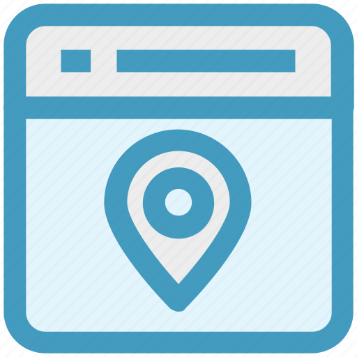 gps, location, map pin, page, seo, web page, website icon