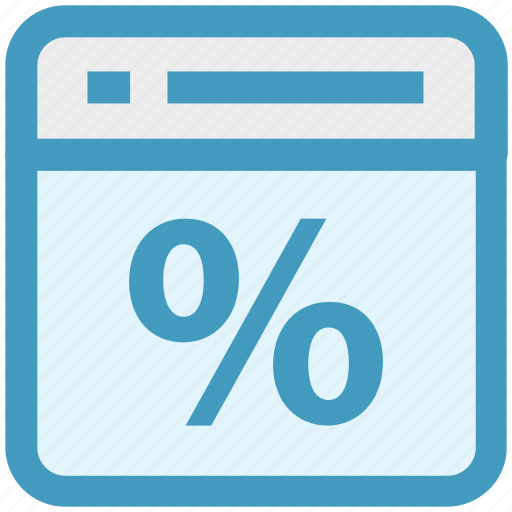 discount, page, percentage, sale, seo, web page, website icon
