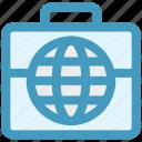 bag, business, globe, luggage, marketing, seo, world icon