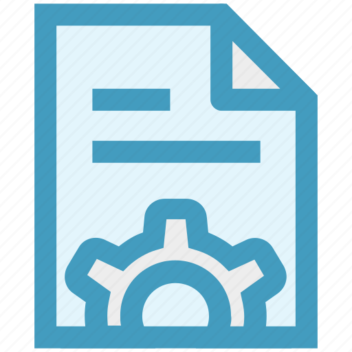 document, gear, page, paper, seo, setting, setup icon