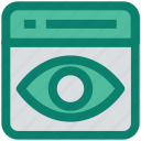 eye, optimization, page, preview, seo, web page, website icon