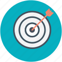 achievement, aiming, archery, skill, target icon