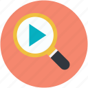 magnifier, searching, social media, video file, video search