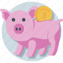 cash, economy, money bank, piggy bank, saving icon