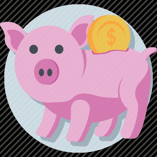 cash, economy, money bank, piggy bank, saving icon