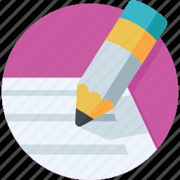 pen, receipt, signing, voucher, writing icon