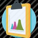 business report, clipboard, graph, report, statistics icon