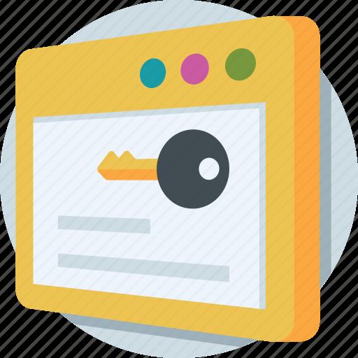 key, keyword, search, seo, webpage icon