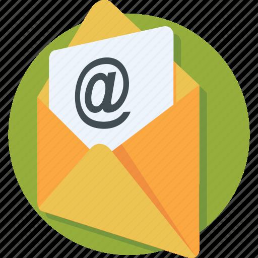 arroba, email, envelope, inbox, message icon