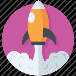 missile, rocket, spacecraft, spaceship, web launch icon