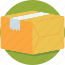 box, cardboard box, delivery, package, parcel icon
