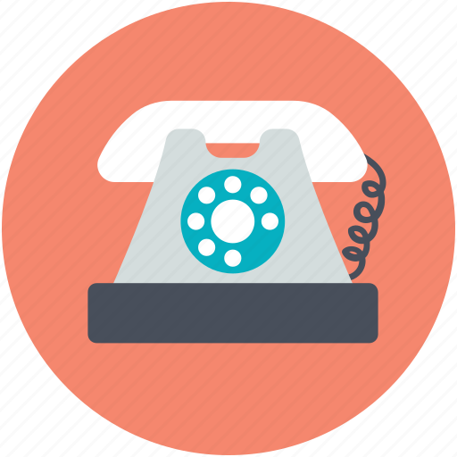 communicate, dial, landline, retro phone, telecommunication, telephone, telephone set icon