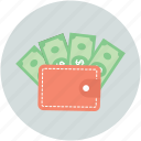banknotes, currency, dollars, money, wallet icon