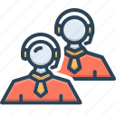 call center, cooperation, headset, support, team, team support, unity icon