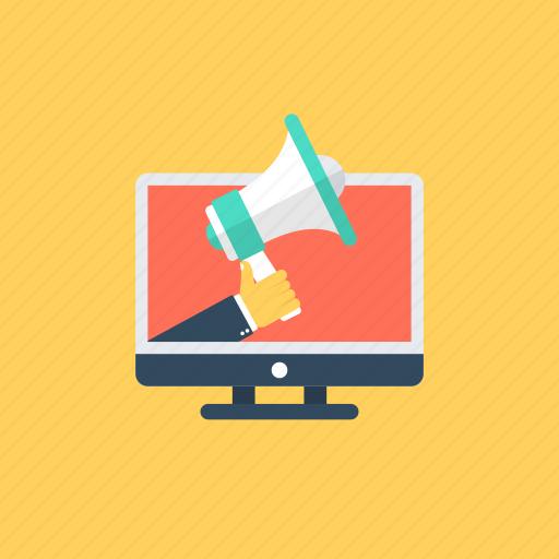 digital advertising, digital marketing, online marketing, social media campaign, web promotions icon