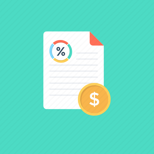 business analysis, business report, financial report, graph sheet, market analysis icon