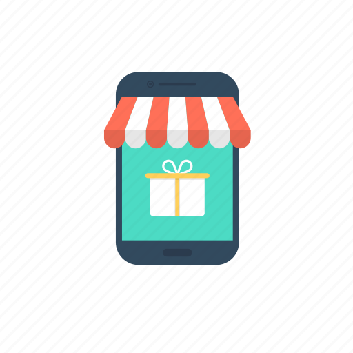 ecommerce, m commerce, mobile shop, online shopping, shopping app icon