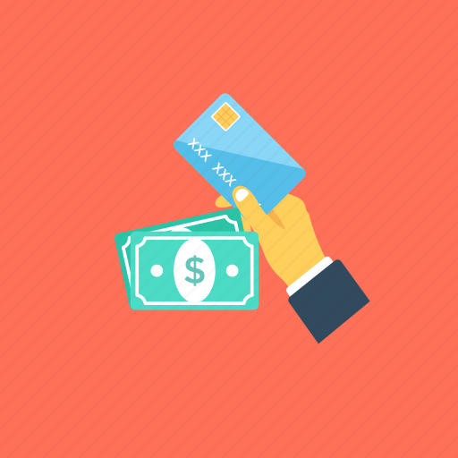 banking, banknotes, credit card, pay, payment methods icon