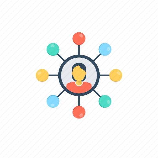 affiliate marketing, digital marketing, social connections, social media marketing, viral marketing icon