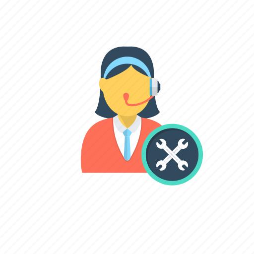 customer representative, customer support, helpline, support services, technical support icon