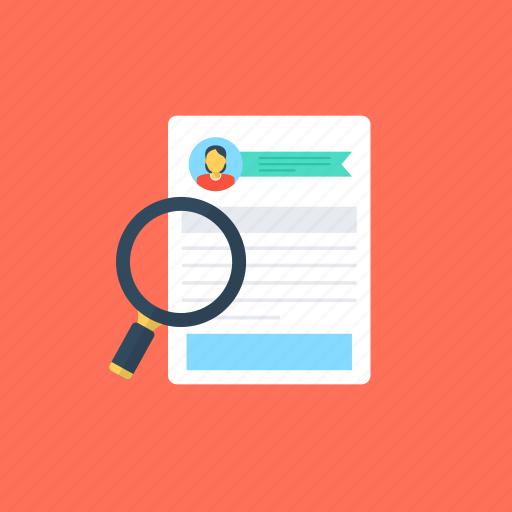 employee profile, human resources, job applications, recruitment, selection procedure icon