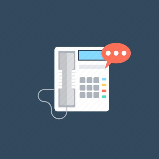 Call, communication, landline, phone, telephonic chat icon - Download on Iconfinder