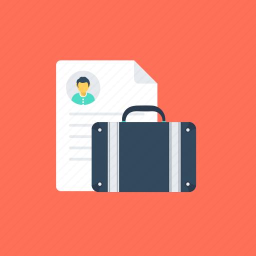 curriculum vitae, job profile, personal informations, portfolio, resume icon