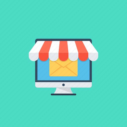 digital marketing, email advertising, email marketing, internet marketing, promotional email icon