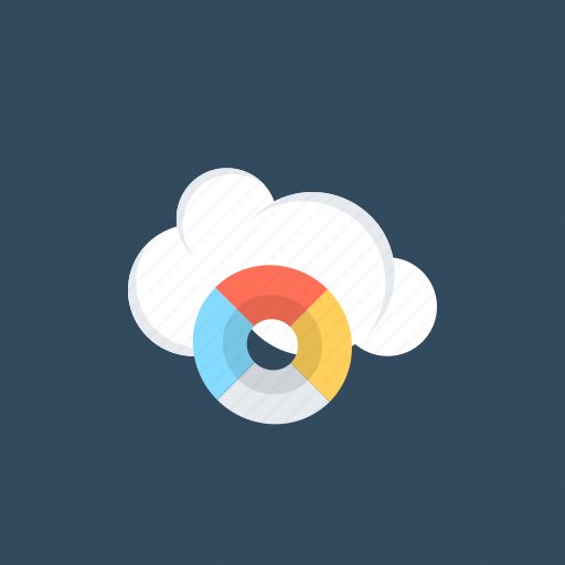 cloud computing, cloud marketing, data analytics, data visualization, salesforce marketing cloud icon