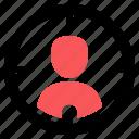 audience, human resources, target market, targeting icon icon