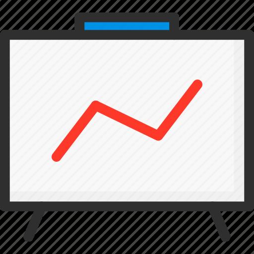desk, growth, line, marketing, seo, stats icon