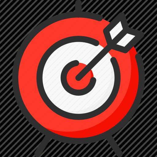 arrow, hit, marketing, point, seo, target icon