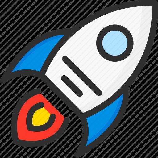 marketing, rocket, seo, startup icon