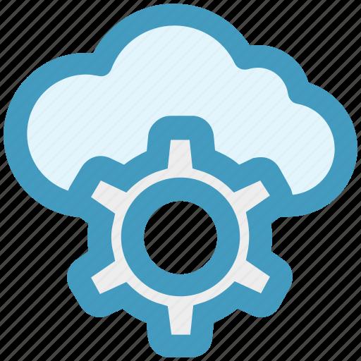 cloud, gear, network, process, seo, service, storage icon