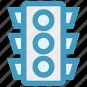 light, road, signal, stop, stoplight, traffic, transportation icon