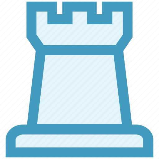 castle, chess, game, rook, seo, strategy, victory icon