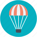 airplay, fly, hot air balloon, sky diving, travel icon