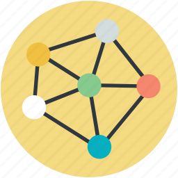connectivity, linkage, linking, network, social network icon