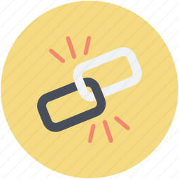 broken chain, broken connection, hyperlink, interlink, link break icon