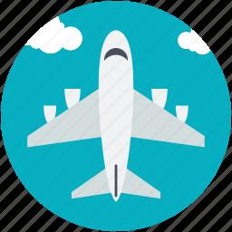 aeroplane, airliner, airplane, flight, plane icon