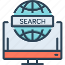 detection, discovery, finding, global, global search, search icon