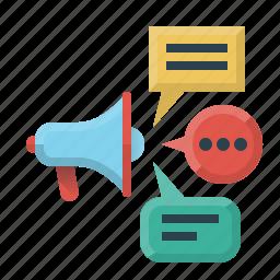 advertising, media, mouthpiece, promotion, social, social media, speaker icon